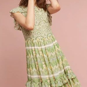 ANTHROPOLOGIE - VARUN BAHL - Lanai Beaded Dress 4P